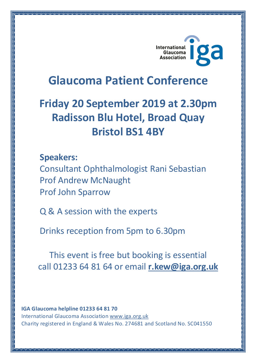 IGA Glaucoma Patient Conference Bristol - The Mentor Ring
