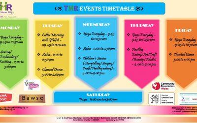 TMR Events Timetable