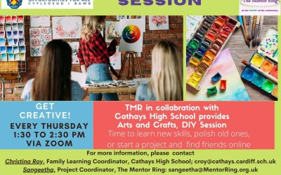 Creative sessions in Collaboration with Cathays High School – Every Thursday 1:30 to 2:30 via Zoom