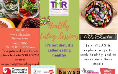 Healthy Eating Sessions – Every Thursday Via Zoom 10:30am