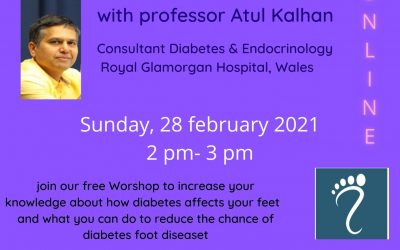 Join us for a Session on Diabetic Foot Care Sunday 28th February 2 – 3pm