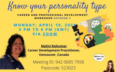 Join Our Third Session of Career & Professional Development April 19th