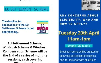 Community Engagement with Home Office Tuesday, 20th April, 2021; 11 am to 1 pm