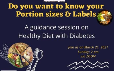 Portion Sizes and Labels Session March 21, Sunday, 2pm via Zoom