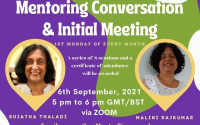 Mentoring Training Sessions 6th September 5 – 6pm via Zoom