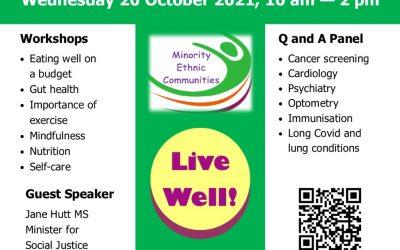 MEC Health Fair October 2021 10am – 2pm on Zoom