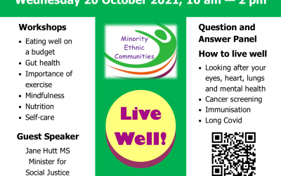 MEC Health Fair October 20th 2021 10am – 2pm on Zoom