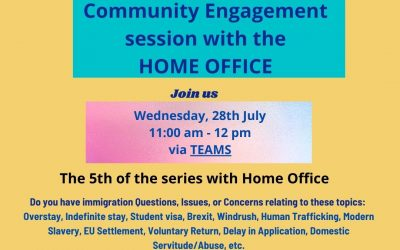 Community engagement event with the Home Office
